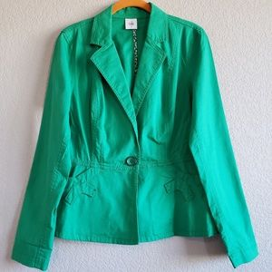 CAbi | Verde Jacket Blazer Bright Green Button S